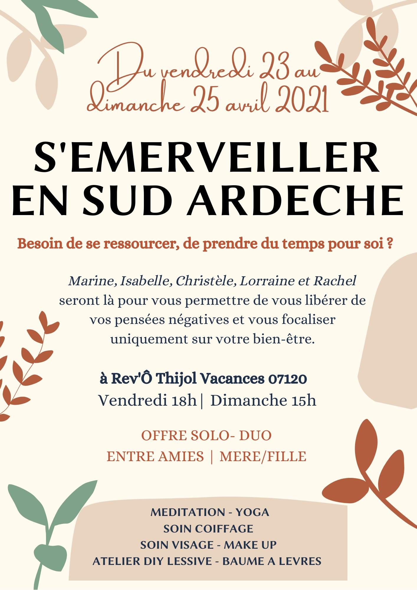 s'émerveiller en sud Ardèche, séjour bien-être