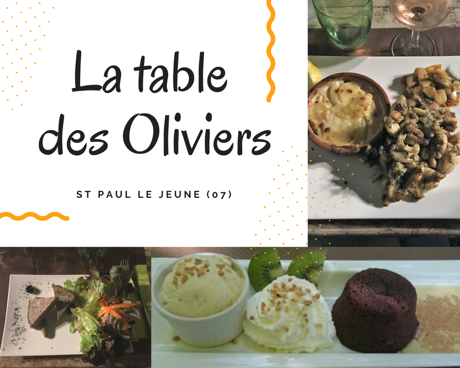 La table des Oliviers